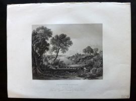 After Fielding 1834 Antique Print. Chepstow Castle, Monmouthshire
